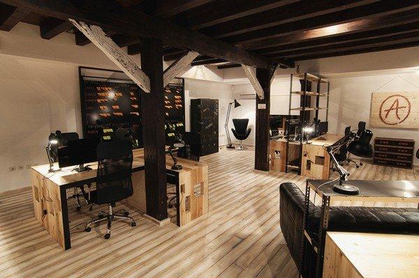 Geweldig een kantoor in de stijl van een koffiebar koffietcacao - Kantoor houten school ...