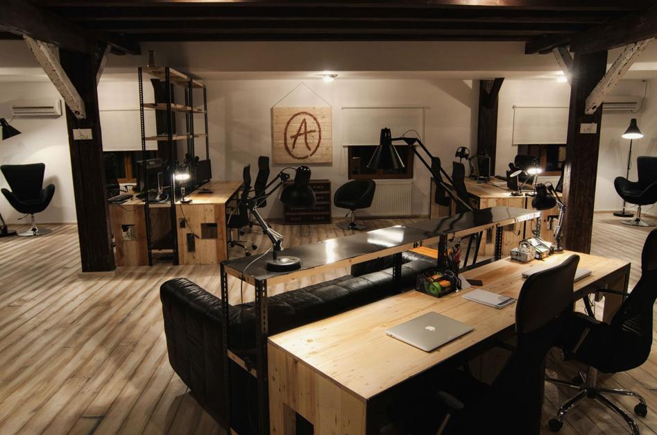 Geweldig een kantoor in de stijl van een koffiebar for Kantoor interieur design