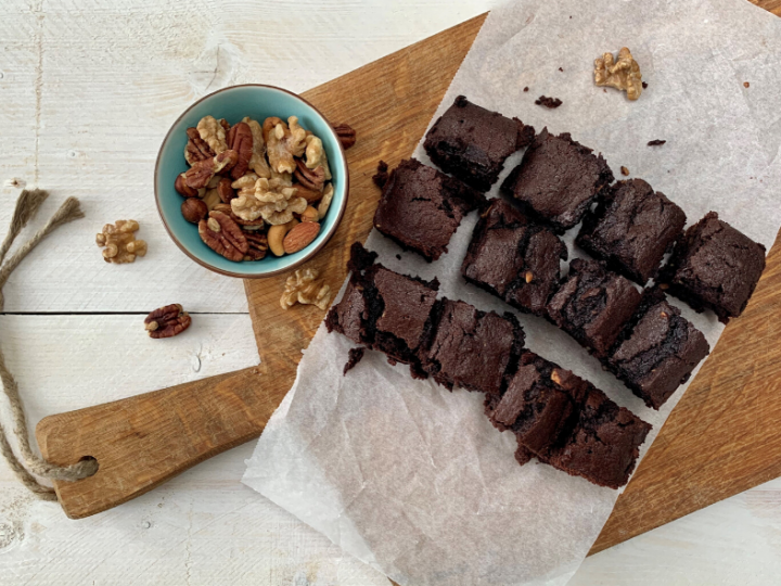 Recept: brownies met pompoen en walnoten
