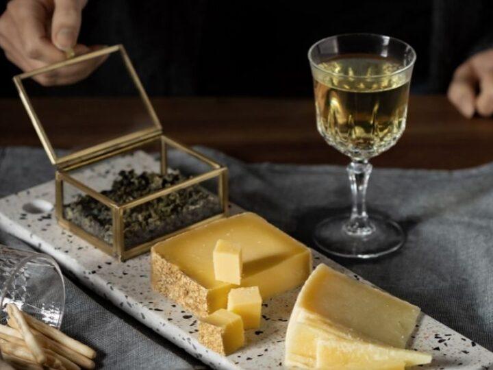 Kaas en thee foodpairing: oolong met zwitserse gruyere en manchego